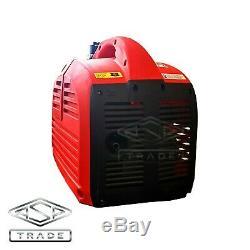 2000W Petrol Inverter Generator SILENT Portable Camping 2kVA Generator 230V