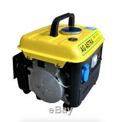 750W 220V Gasoline Generator Mini Power Supply 4L Fuel Tank Low Noise Portable