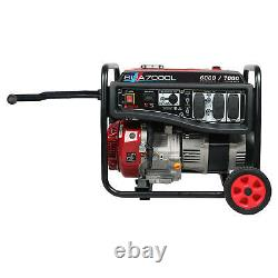 A-iPower 6000/7000 Watt Gasoline Portable Generator with Wheel Kit Free Shipping