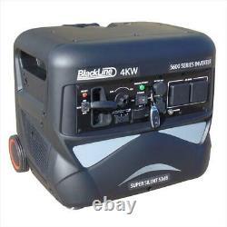 Blackline Power 5600E 4kw Inverter Petrol Generator Electric Start Quiet 53db