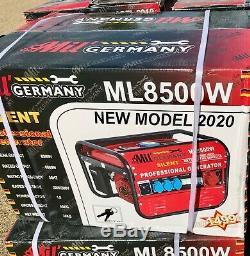 (Brand New) Mil 2020 ML8500W Silent 4 Stroke 6500W 6.5Hp Petrol Generator