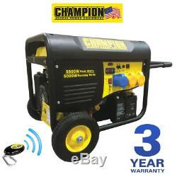 CHAMPION CPG6500 5500 watt petrol Generator REMOTE START UK Spec NEW Portable