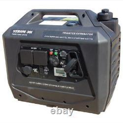 Camping Caravan Inverter Generator Quiet 53db 3kw Starting, 2.1kw Running 19.8kg
