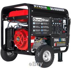 DuroStar 10000 Watt Hybrid Dual Fuel Portable Gas Propane Generator RV Standby
