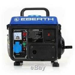 EBERTH 2HP 1.47 kW Petrol generator 750W portable gasoline 2 stroke engine 63 c