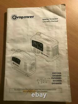 Evopower suitcase generator