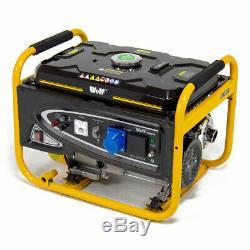 ExDemo Petrol Generator 3200w 4kva 7HP 230v Quiet Portable 4 Stroke Caravan