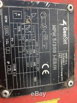 Genset Honda Engined Petrol Welder Generator Gx340 180 Amp Ac 115/240 Volt 5kw