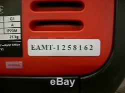 HONDA EU22i silent 2.2kW suitcase inverter generator 5yr warranty