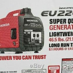 Honda Super Quiet EU2200I 2 200w Portable Inverter Generator