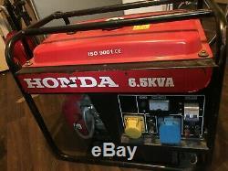 Honda generator 6.5 kva 6.5kW 6500W 3litres 50Hz 115V 230V DC12 V8.3A ISO 9001