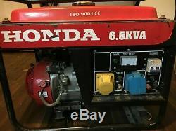 Honda generator 6.5 kva 6.5kW 6500W 50Hz 3litres 115V 230V DC12 V8.3A ISO 9001