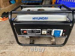 Hyundai 1.7kw Petrol Generator 230volt skid mounted, quite running