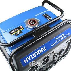 Hyundai HY3500Ei 3.3Kw Single Phase Electric Start Inverter Generator 3300W