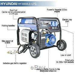 Hyundai HY3800LE-LPG Dual fuel LPG / Petrol Generator