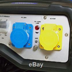 Hyundai Petrol Generator 3200 Watt 4kVa 3.2kw 50Hz 230v 115v AVR HY3800L-2
