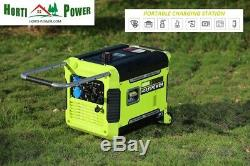 Inverter Generator 3kw Petrol 3000w Super Silent Pure Sine Electric Start Wheels