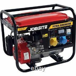 Jobsite 2000W Petrol Portable Camping Generator 4 Stroke 230v 6.5HP 1900