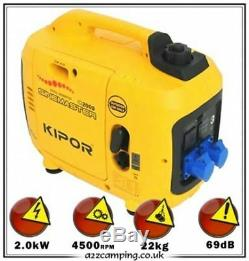 Kipor IG2000P 2kW Petrol Suitcase silent generator camping caravan boat market