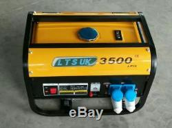 LPG AND PETROL GENERATOR 2.5KW DUAL FUEL new 240 volt 2 year warranty new