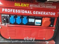 MIL Germany Silent Petrol 8500W Generator BNIB