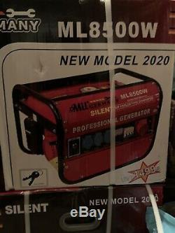 MU Germany Silent Petrol Powered Electric Generator 6500w Max Output 220v/380v