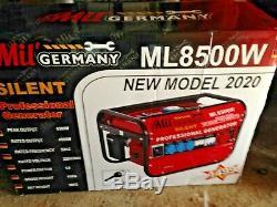 New Model 2020 ML8500W Silent 4 Stroke 6500W 6.5Hp Petrol Generator