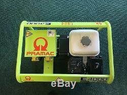 (New) Pramac 3.4kVA / 3.1kw Portable Petrol Generator 230V 1 Phase Honda