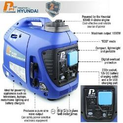 P1 P1000i 1000W Portable Petrol Inverter Suitcase Generator (Powered by Hyundai)