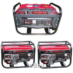 Petrol Generator 2000W 3000W Electric Key Start 6.5HP / 7HP UK Plug 4 Stoke