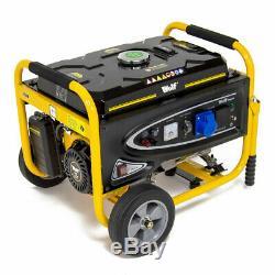 Petrol Generator 3200w with Wheel Kit 4kva 7HP 230v Portable 4 Stroke
