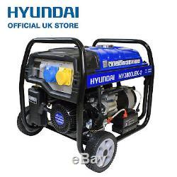 Petrol Generator 3.2kW 3200W 4kVA Electric Start Catering Portable Site HYUNDAI