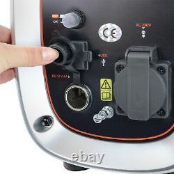 Petrol Inverter Generator Portable Silent Suitcase 900w 1.1kVa Black & Decker