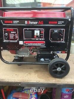 Petrol/electric Generator 9.5KVA 8000W- Key start Portable Power 13HP- Bohmer