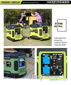 Portable Inverter Generator 3kw Petrol Powered 3000w Pure Sine Electric Start