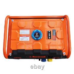 Portable Petrol Generator 6500W RocwooD 110v 4Stroke 8HP Electric Start FREE Oil