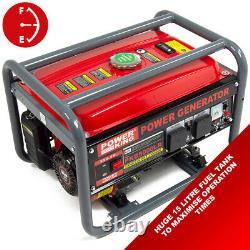 PowerKing Petrol Generator PKB5000LR 3200w 4KVA Wolf 7HP 4 Stroke