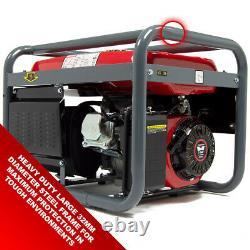 PowerKing Petrol Generator PKB5000LR 3200w 4KVA Wolf 7HP 4 Stroke & Wheel Kit