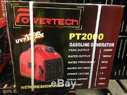PowerTech Kraft Muller 2000w Portable Suitcase Petrol Generator PT2000 Camping