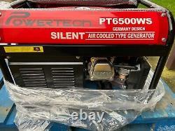 PowerTech PT6500WS Professional Silent Generator (NEW & SEALED)
