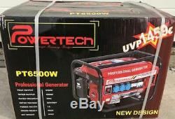 Powertech PT 6500 WS SILENT generator new. German Design FREE SHIPPING