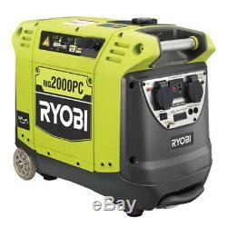 Ryobi Petrol Generator Inverter RIG2000PC 2KW 106cc Portable Caravan Camping