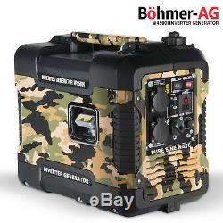 Silent Inverter Petrol Generator W4500i 2000W Portable Camping Power (AU222)