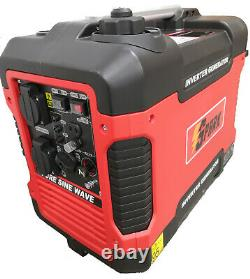 Silent suitcase Inverter Petrol Generator 2000W Portable Camping 4 stroke Power