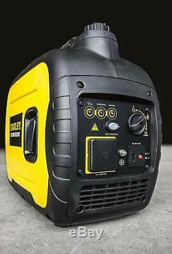 Stanley SIG 2000W Silent Suitcase Inverter Petrol Generator Portable Power 3.4HP