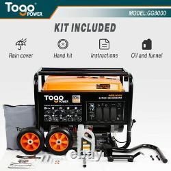 Togopower Gg8000 6500 Rated 8000 Peak Watts Gasoline Powered Portable Generator