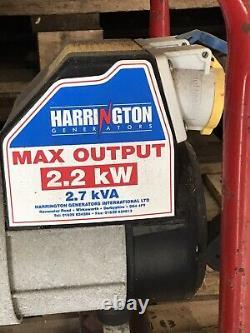 Used Harrington Generator 2.7KVA 110v or 240v Collection Only DT6