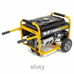 Wolf Petrol Generator WPL3500LR 3200w 4.0KVA 7HP with Wheel Kit