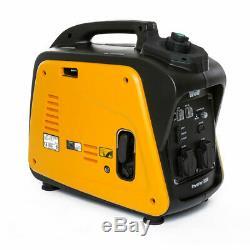 Wolf Petrol Inverter Generator 2000w 4HP 4 Stroke Silent Portable Caravan