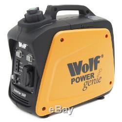 Wolf Petrol Inverter Generator 800w 2.6HP 4 Stroke Silent Portable Caravan